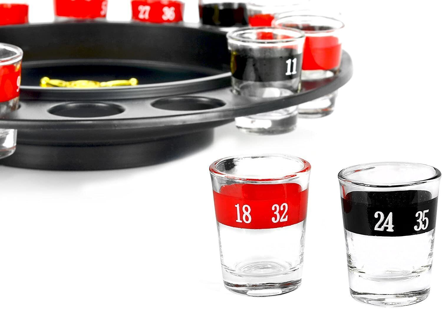 Drinking Roulette incl. 16 shot glasses);