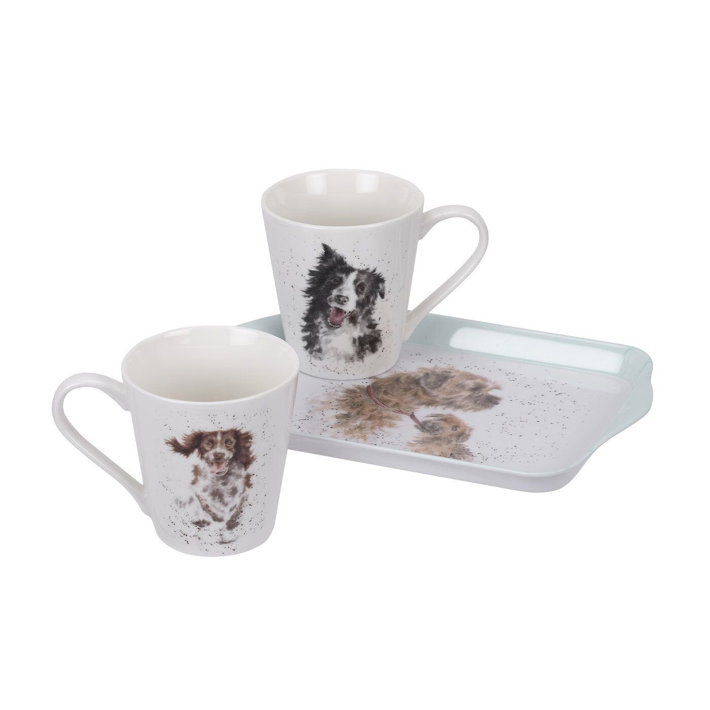 Pimpernel Wrendale Designs Mug and Tray Set - Dogs 1);