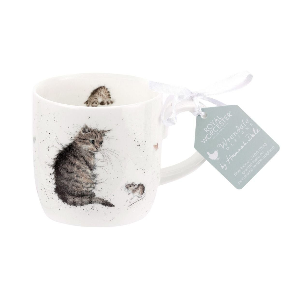 Royal Worcester Wrendale Designs Cat and Mouse Fine Bone China Mug);
