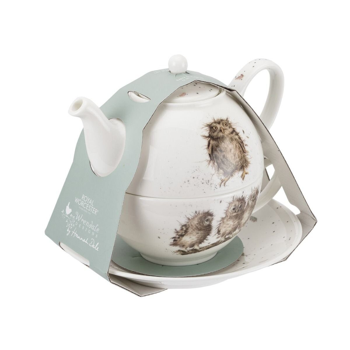 Royal Worcester Wrendale Designs Owl Tea For One with Saucer);