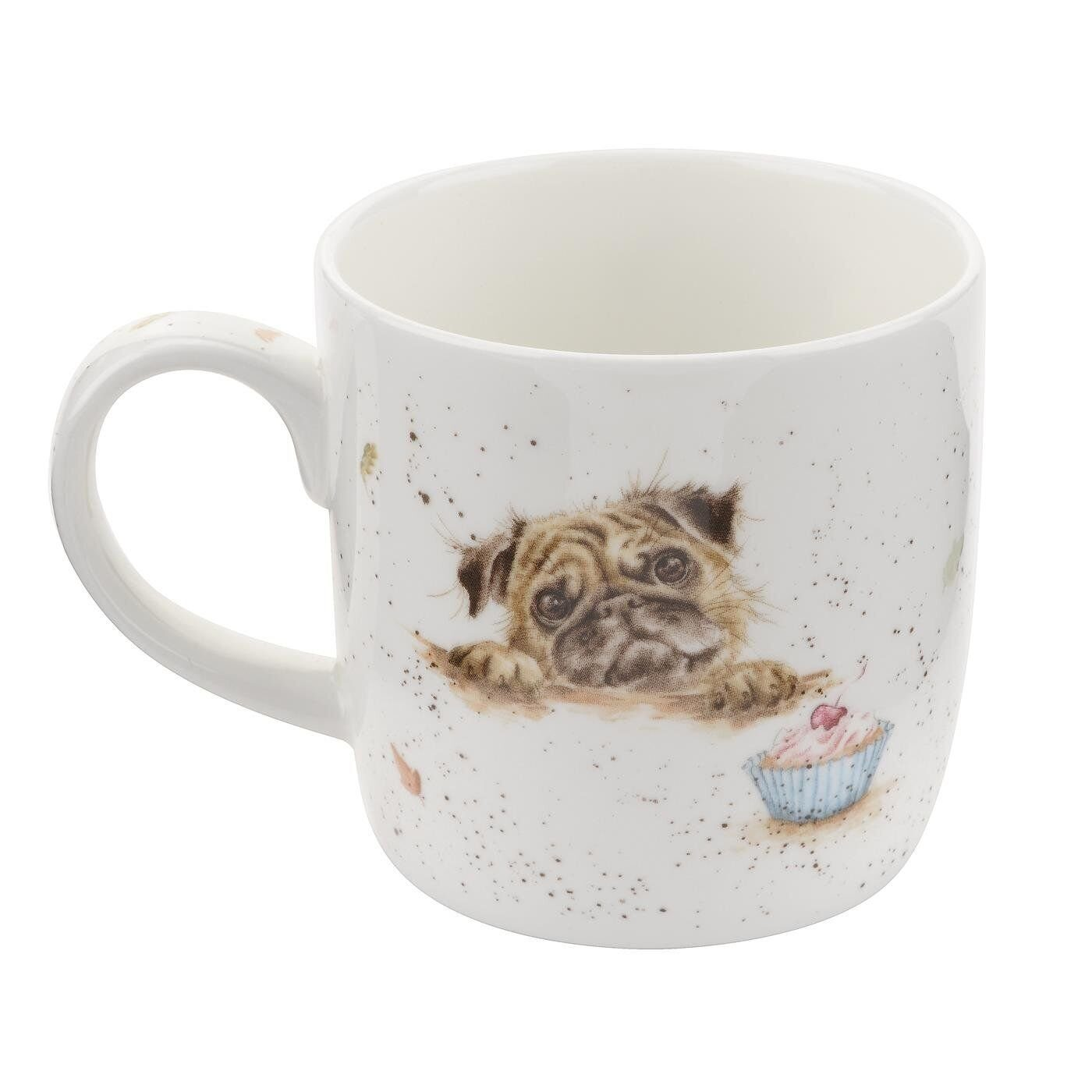 Royal Worcester Wrendale Designs Pug Love Fine Bone China Mug 2);