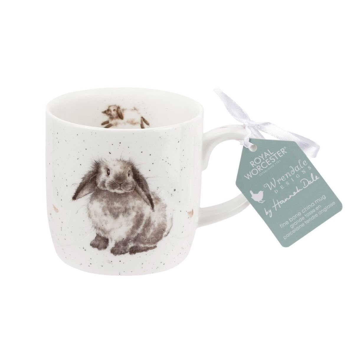 Royal Worcester Wrendale Designs Rosie Rabbit Fine Bone China Mug);