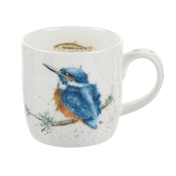 Royal Worcester Wrendale Designs King of the River Kingfisher Fine Bone China Mug 1