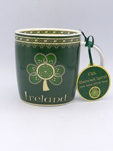 C483 Кружка Irish Weave Bone China Mug Collection With High Cross Print ЕВ07C483 Royal Tara, Ирландия