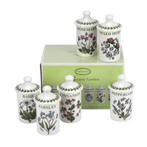 C296 Сет 6 баночек для специй Botanic Garden Herb & Spice Jars Set of 6, Portmeirion, England