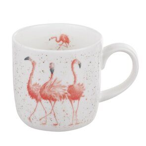 D500 Royal Worcester Wrendale Designs Pink Ladies Flamingo Fine Bone China Mug