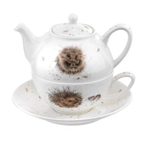 D539 Royal Worcester Wrendale Designs Tea for One with Saucer ёжики- Hedgehog,  Royal Worcester, England