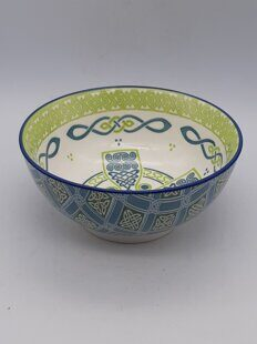 C497 Очень красивая салатница Irish Celtic Bowl With Celtic Cross Design 14cm ЕВ07C497 Royal Tara, Ирландия
