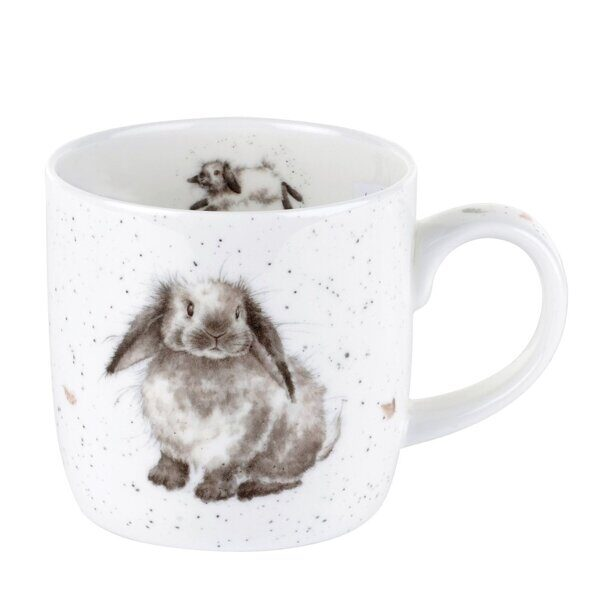 4P82 Кружка Royal Worcester Wrendale Designs Rosie Rabbit Fine Bone China Mug, England