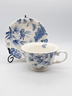 4P132 Чайная пара Portmeirion Botanic Blue Tea Cup and Saucer Single,  England