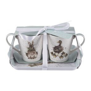 4P121 Сет 2 чашки и подносик Pimpernel Wrendale Designs Mug and Tray Set, England