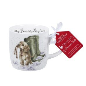 D504 Royal Worcester Wrendale Designs Boxing Day Walk Dog Fine Bone China Mug