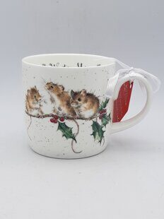 4P110 Кружка Royal Worcester Wrendale Designs Winter Mice Fine Bone China Mug, England