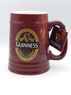 C481 Пивная большая  кружка Ceramic Tankard With St. James Gate Label  Бордо- Guinness Ireland Collection ЕВ10C472, Guinness Ireland Collection, Ирландия