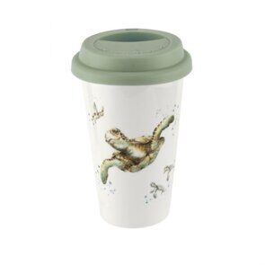 E532 Royal Worcester Wrendale Designs Turtle Travel Mug with Silicone Lid