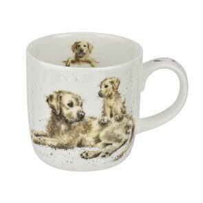 4P67 Кружка  Royal Worcester Wrendale Designs Devotion Labrador Fine Bone China Mug,  Royal Worcester, England