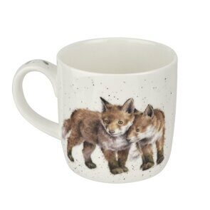 4P70 Кружка  Royal Worcester Wrendale Designs Born to be Wild Fox Fine Bone China Mug,  Royal Worcester, England