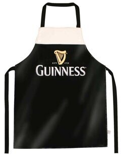 PPP146 Фартук ПВХ Guinness Designed Livery PVC Apron With Harp Design, Black Colour CВ01PPP146, Ирландия