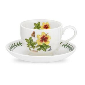 K87 Portmeirion Exotic Botanic Garden Tea Cup and Saucer Hawaiian Hibiscus