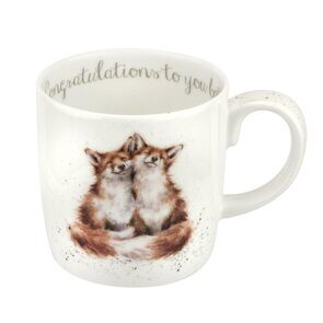 E525 Кружка  Royal Worcester Wrendale Designs Congratulations To You Both Large Fine Bone China Mug