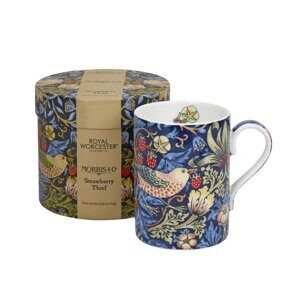K91 Morris and Co for Royal Worcester Strawberry Thief Indigo Mineral Fine Bone China Mug