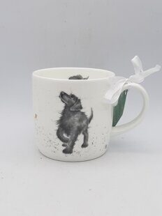 4P107 Кружка Royal Worcester Wrendale Designs Walkies Labrador Fine Bone China Mug, England
