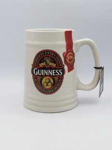 C482 Пивная большая  кружка Ceramic Tankard With St. James Gate Label  Айвори- Guinness Ireland Collection ЕВ10C482, Guinness Ireland Collection, Ирландия