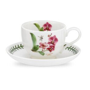K88 Portmeirion Exotic Botanic Garden Tea Cup and Saucer Moth Orchid