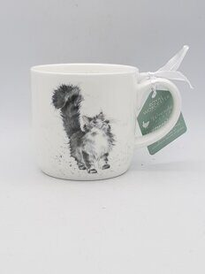 4P115 Кружка  Royal Worcester Wrendale Designs Lady of the House Cat Fine Bone China Mug, England