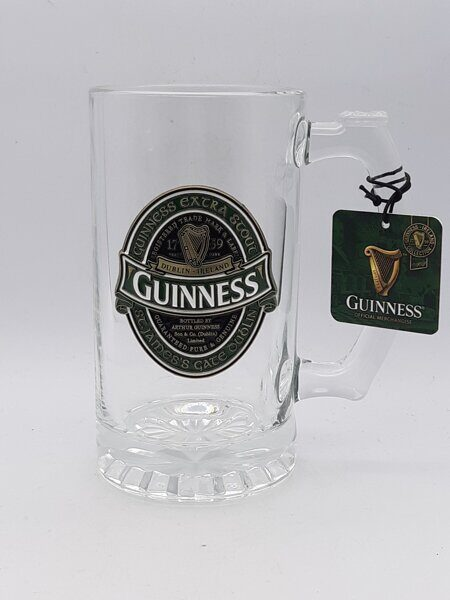 C498 Очень красивая большая тяжелая кружкаGuinness Ireland Collectable Tankard With Embossed Guinness Ireland Label  ЕВ07C498 Royal Tara, Ирландия