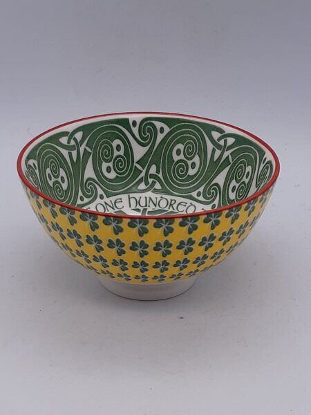 C494 Очень красивая маленькая салатница Irish Celtic Bowl With Hundred Thousand Welcomes Design 11cm ЕВ07C494 Royal Tara, Ирландия