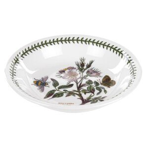 K110 Portmeirion Botanic Garden 8 Inch Pasta Bowl Dog Rose