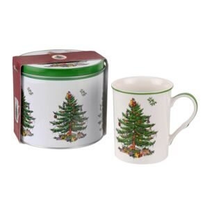 Сет 2 предмета Portmeirion Christmas Tree Mug & Tin Set - Poppy, Portmeirion, England