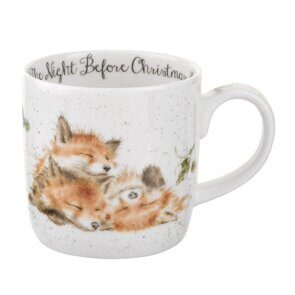 E524 Кружка  Royal Worcester Wrendale Designs The Night Before Christmas Fox Fine Bone China Mug