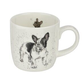 4P81 Кружка Royal Worcester Wrendale Designs Frenchie Fine Bone China Mug, England