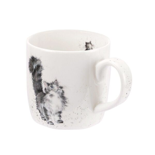 Royal Worcester Wrendale Designs Lady of the House Cat Fine Bone China Mug 1