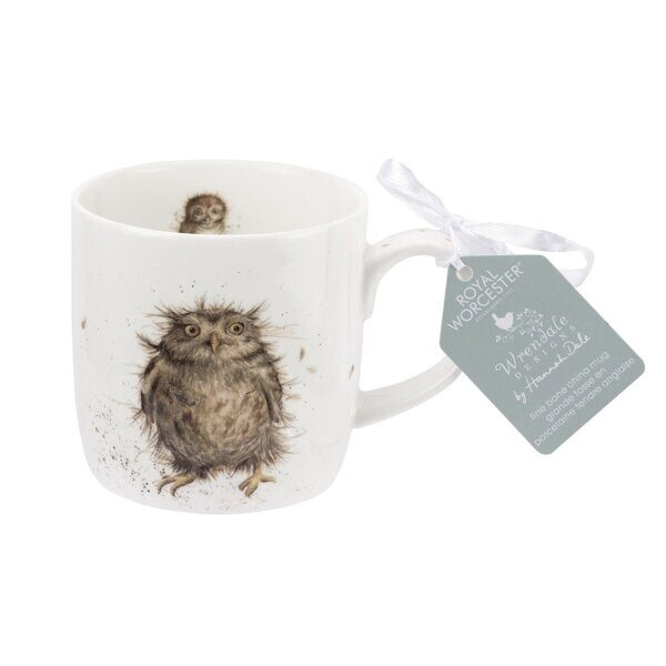 Royal Worcester Wrendale Designs What a Hoot Owl Fine Bone China Mug