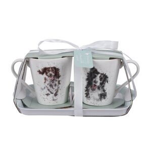 D812 Сет две чашки и подносик Pimpernel Wrendale Designs Mug and Tray Set - Dogs England