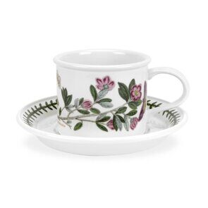 K120 Portmeirion Botanic Garden Cofee Cup and Saucer (Drum Shape) Rhododendron
