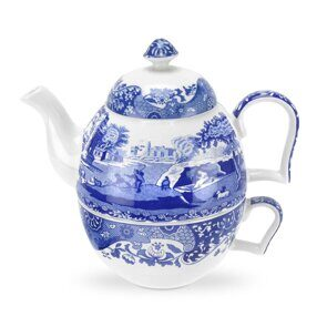 K212 Spode Blue Italian Tea-for-One set