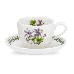 K86 Portmeirion Exotic Botanic Garden Tea Cup and Saucer Dragonfly