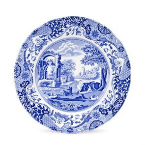 E542 Spode Blue Italian 10 Inch Dinner Plate Single Item