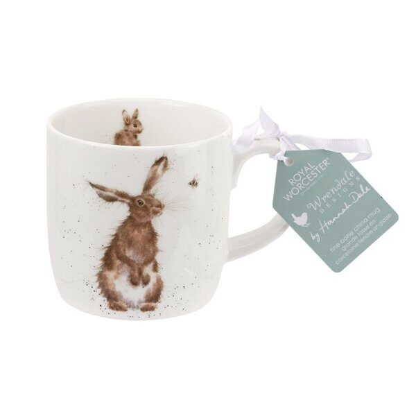 4P72 Кружка Royal Worcester Wrendale Designs The Hare and the Bee Fine Bone China Mug,  Royal Worcester, England