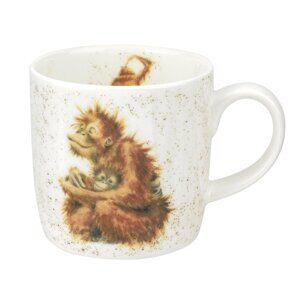 E528 Кружка  Royal Worcester Wrendale Designs Orangutangle Fine Bone China Mug