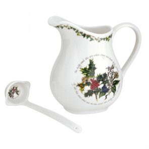 E541 Portmeirion The Holly and the Ivy 1.5 pint Jug and Ladle