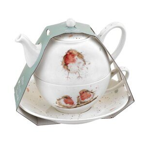 D541 Royal Worcester Wrendale Designs Tea For One With Saucer (Robins)