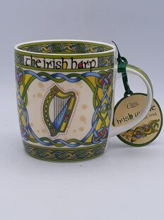 C475 Кружка Irish Weave Bone China Mug Collection With Harp Ring Print ЕВ07C475, Royal Tara, Ирландия