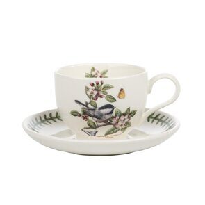 K84  Portmeirion Botanic Garden Birds Cup and Saucer Chickadee
