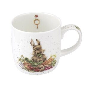 E523 Кружка  Royal Worcester Wrendale Designs Grow your Own Rabbit Fine Bone China Mug
