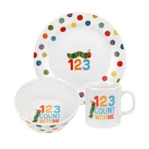K290  Portmeirion The Very Hungry Caterpillar 3 Piece Tableware Set